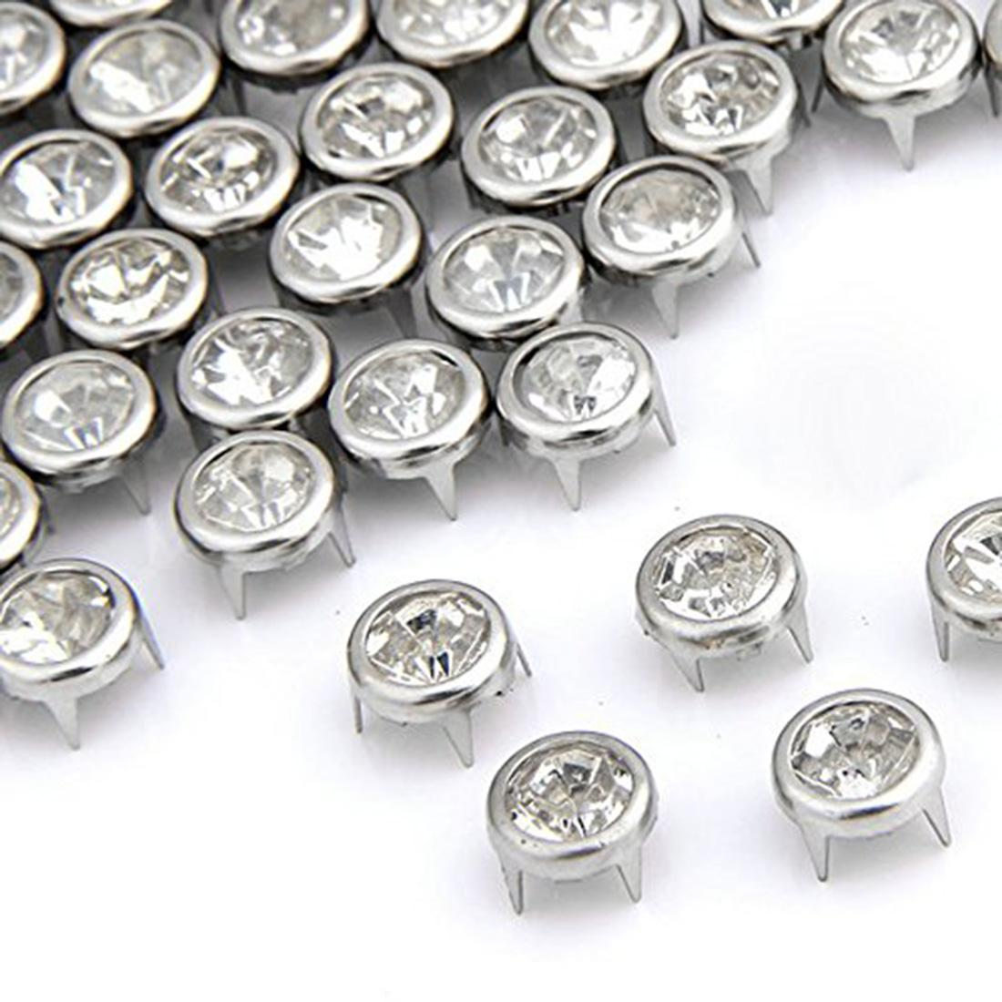 New Style Punk Spikes Studs Flat Rapid Cone Decorative Rivets DIY Set 7mm For Clothes Clothing Bag Shoes Leather Rhinestone