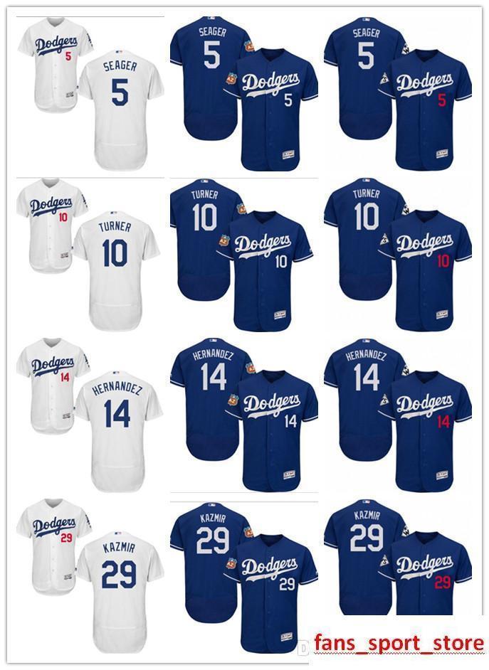 huge selection of d2719 0fd3e custom Men s women youth Majestic LA Dodgers Jersey #5 Corey Seager 14  Enrique Hernandez 29 Scott Kazmir 10 Justin Turner Baseball Jers