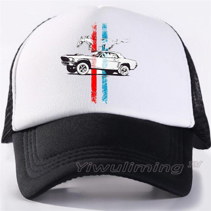 Men Women New Summer Trucker Caps Cool Ford Mustang Summer Black Adult Cool Baseball  Mesh Net Trucker Caps Hat For Men Adultbeyonce Army Hats Custom Caps ... c54d62f4e940
