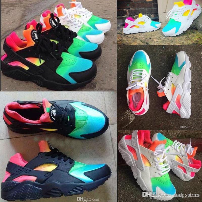 premium selection c909b 7dfc3 Huaraches 2018 Air Huarache Shoes Rainbow Huarache Ultra Running Shoes Men  Huarache Breathe Shoes Women Huraches Sport Trainers