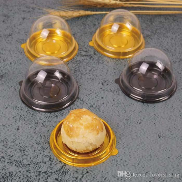 =Mini Size Plastic Cupcake Cake Dome Favor Boxes Container Cake Box Wedding Favors Boxes Supplies
