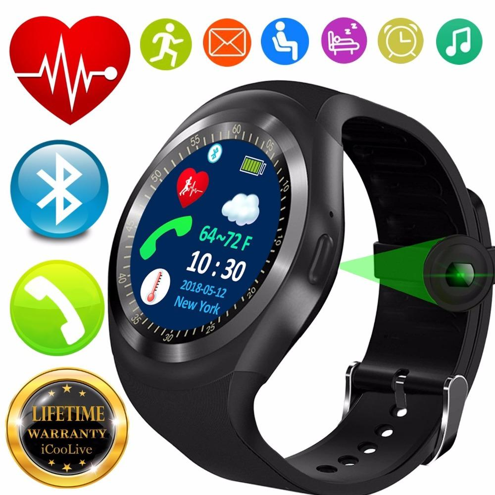 Compre 2018 Melhor T1 Monitor De Freqüência Cardíaca Do Bluetooth Pressão  Arterial Relógio Inteligente Para O Miúdo Das Mulheres Dos Homens Novo  Rastreador ... dd675d4e7b