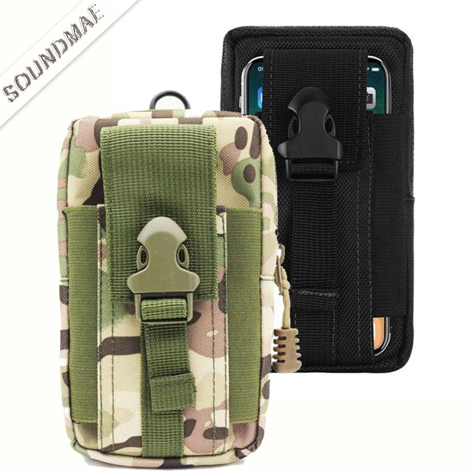 54a58f9f746 Fundas Para Móvil Funda Táctica Universal Al Aire Libre Funda Militar  Cinturón Bolsa Bolso Monedero Bolsa Funda Con Cremallera Para IPhone XR XS  X 7 8 Plus ...