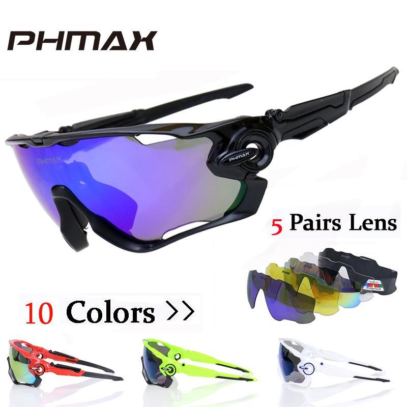 5ae7789f74 Compre PHMAX Polarized Ciclismo SunGlasses Mountain Bike Óculos De Proteção  5 Lens UV400 Ciclismo Eyewear Bicicleta Óculos De Sol Ciclismo Óculos 2018  De ...