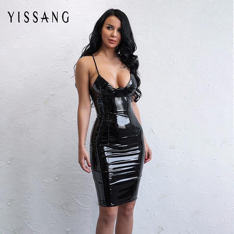 Short Leather Dress