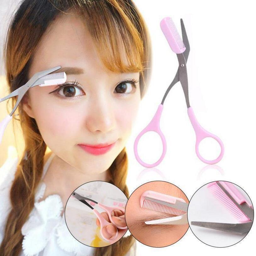 Eyebrow Trimmer Scissors With Comb Shaving Eyebrow Trimmer Shaping