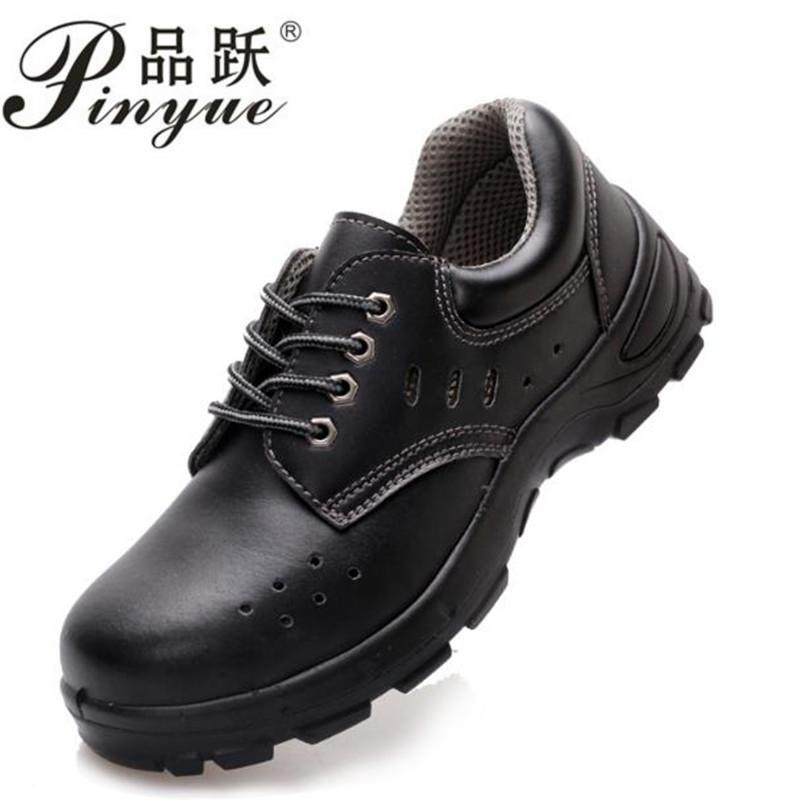 18003db4178 Safetoe Safety Shoes Brand Leather Mens Work Boots Work Shoes Working  Safety Boots with Steel Toe Cap for Men fashion 35--50