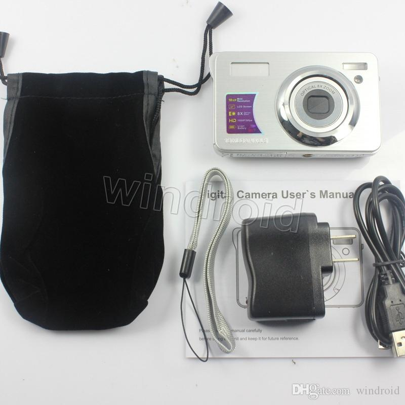 2.7 Inç TFT LCD Dijital Kamera Video Kaydedici 18MP 8X Optik Zoom 1080 P HD Kamera Anti-shake Yüz Algılama 8MP KOM Dijital DV DC-KG930