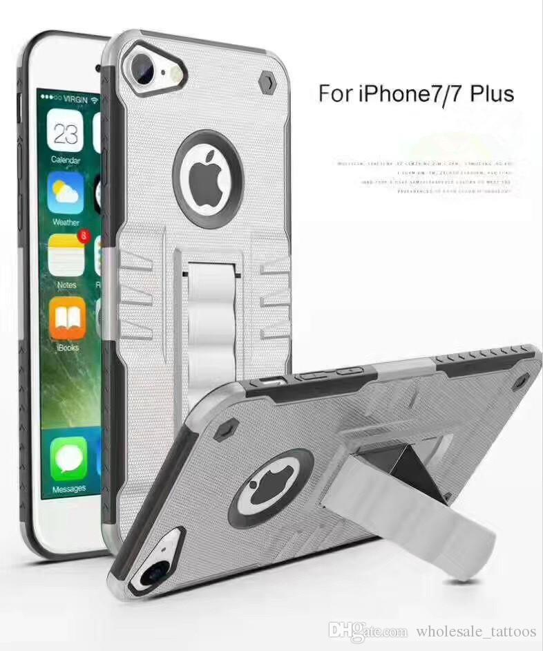 For LG LV5 V5 K20 Plus K20 V Harmony Grace Stylo 3 Plus Phantom King Heavy Duty Hybrid Hard Rugged Plastic Rubber Kickstand Phone Case Coque