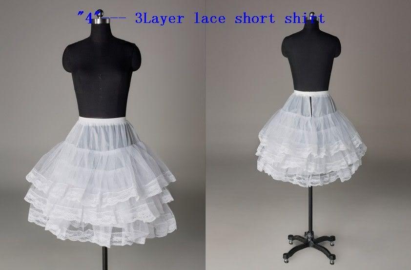 Top Sale Short White Petticoat Mini Tutu Short Petticoat Girl Tulle Underskirt for Girls Party Dress Crinoline Skirt