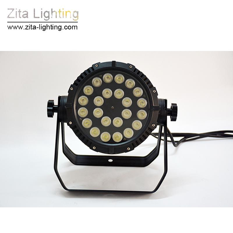 / zita allumant des lumières de pair de LED d'étape extérieure peut allumer des ampoules imperméable à l'eau IP65 24X10W RGBW DMX 512 projecteur de mur de construction de rondelle