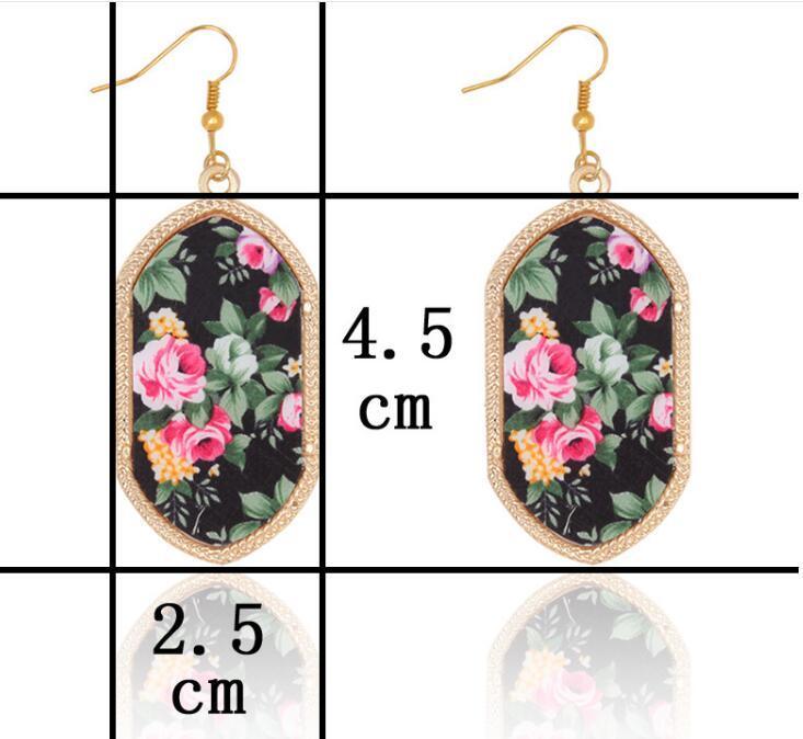 Gold Geometric Earrings Dangle Gemstone Earrings Designs Brand Leopard Printing For Women Party Vintage Jewelry Chandelier Earrings