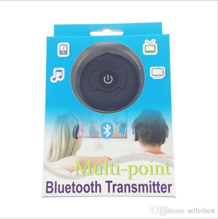 1x2 Splitter Multi-punto de audio inalámbrico Transmisor Bluetooth Estéreo Dongle Adaptador Para TV Smart PC DVD MP3 H-366T Bluetooth 4.0 A2DP