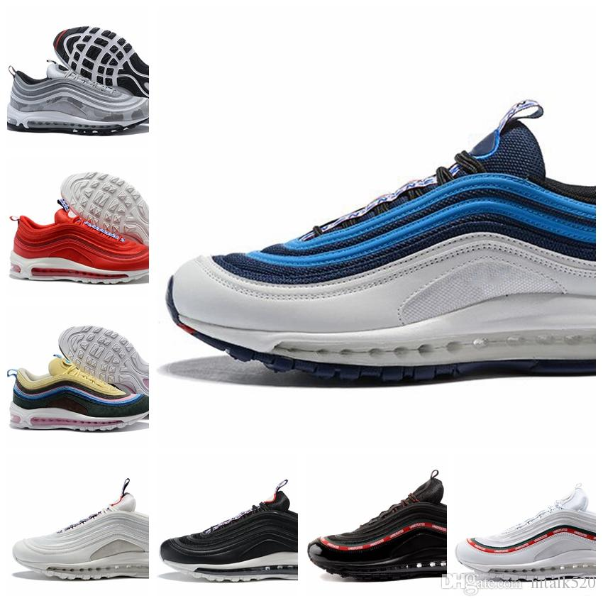 quality design 9b70d 51a30 Acquista Nike Air Max 97 Airmax 97 2018 Novità 97 Scarpe Da Running Pull  Tab Obsidian Velluto A Coste Camo Metallic Maxi Silver Silver Bullet Air  Blue Uomo ...