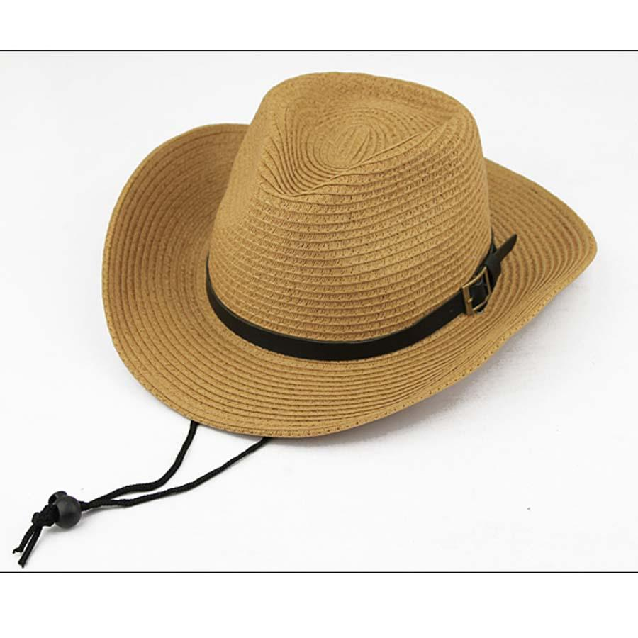 HOT New Unisex Western Cowboy Hat Folding Fedora Trilby Straw Hats Summer  Beach Sun Cap With String Mens Hat Styles Hat From Hermane c9a6503e7b8