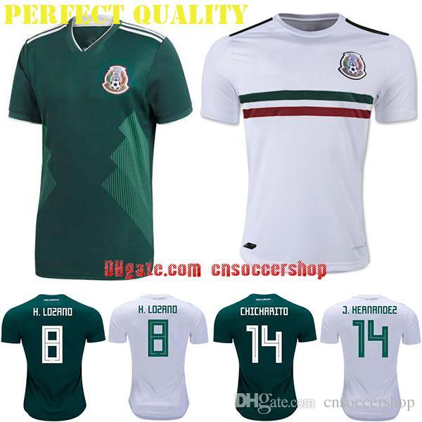 new york 47a5d de77c Camisetas De Fútbol De México 2018 2019 S 4XL Camiseta De La Copa Del Mundo  Camiseta De Fútbol De México Kit De Calidad Perfecta Camiseta Selección  México ...
