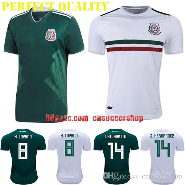 cecc7cdc3bf52 Mexico soccer jerseys 2018-2019 S-4XL World Cup jersey Mexico football  shirt Perfect quality kit camiseta selección México