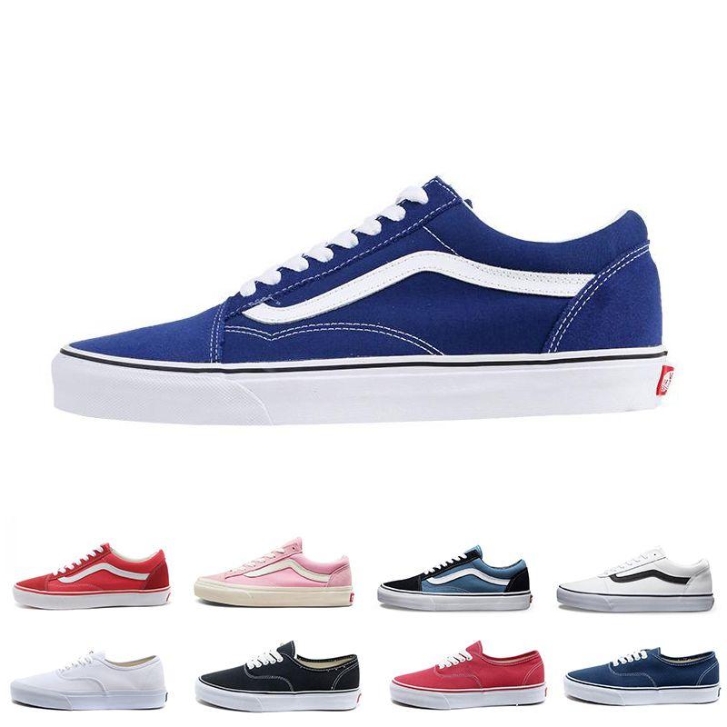 promo code ce8b5 23333 Zapatos De Lona De Color Azul Negro Blanco Clásico Para Hombres Mujeres  Monopatín Zapatos Casuales Zapatillas Deportivas Venta Caliente Tamaño 36  44 Por ...