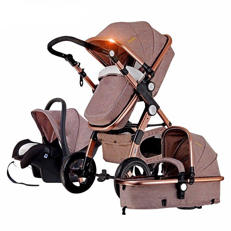 Baby Stroller 3 In 1 With Car Seat For Newborn High View Pram Folding Baby 0 3 Year Old Luxury Stroller