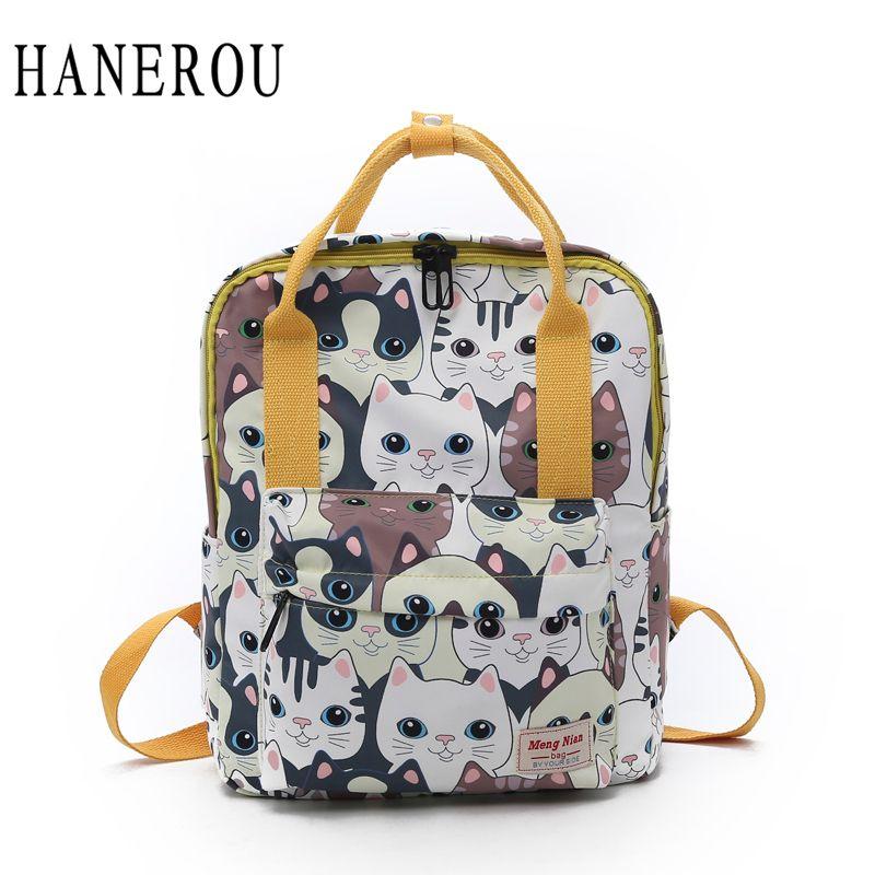 9a69ad9511 HANEROU Preppy Style Teenager Girls Backpacks Hand Bag Ladies Back Bags  Animal Prints School Bags High Quality De Senora Laptop Rucksack Backpacks  For ...