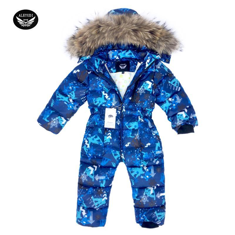 32c29f0a0 2019 Children Skiing Suit Winter Snowsuit Baby Boys Jumpsuits ...