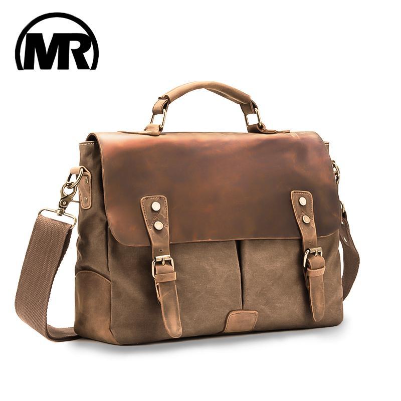 d70b65ba2595 MARKROYAL Men Business Travel Bag Genuine Leather Handbag Briefcase  Messenger Bag Vintage School Tote Casual Male Trip Package Mens Shoulder  Bags Fashion ...