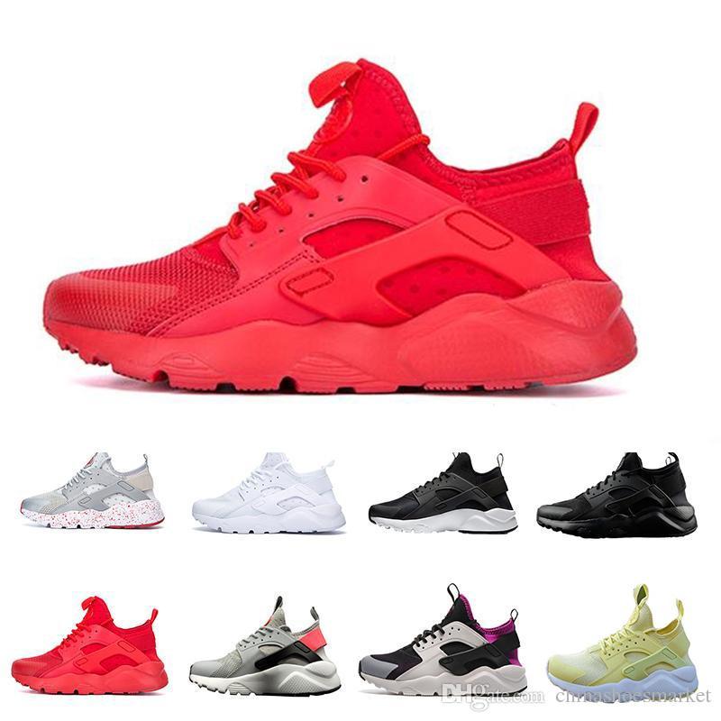 d0098f903df4 Air Huarache 4.0 Mens Running Shoes Triple Black Red Fashion Huaraches  Trainers Sports Sneaker Shoe Size 36 46 Running Shoes Men Running  Accessories From ...