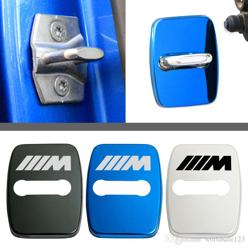 Car-styling car covers Door lock cover case for BMW E46 E39 E90 E36 E60 E34  E30 F30 F10 X5 E53 BMW X5 X6 i3 i8 7 car styling Accessories