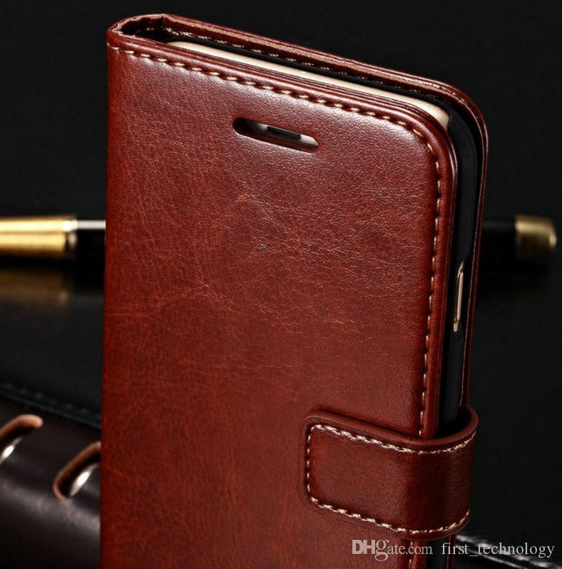 카드 슬롯 아이폰 6 S 6S 플러스 전화 케이스에 대한 지갑 가죽 케이스 아이폰 6 6S 플러스 럭셔리 Coque 커버