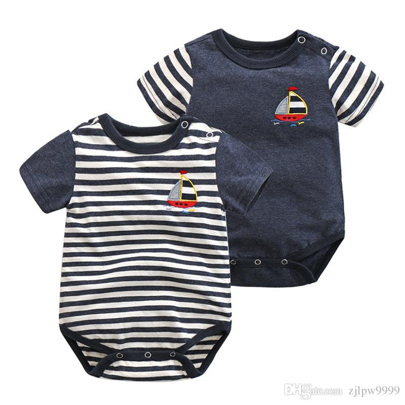 12c75791f Clearance Big Sale Baby Kids Clothing Boys Girl Rompers Striped ...