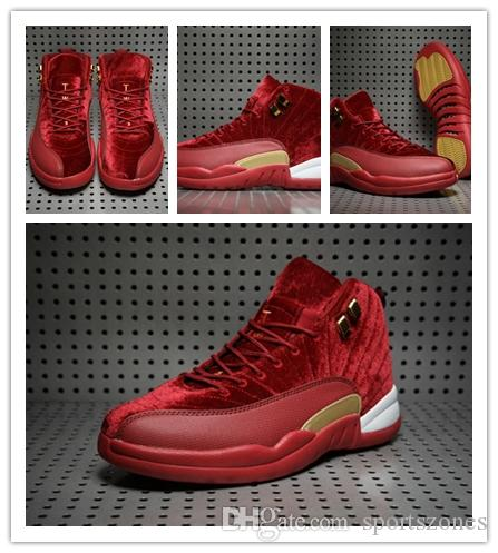 separation shoes 47832 0bb8d cheap 2018 New 12s 12 Red Velvet Basketball Shoes Men XII Sports Shoes Mens  Trainers Athletic Sneakers For Sale Shoes size 41-47