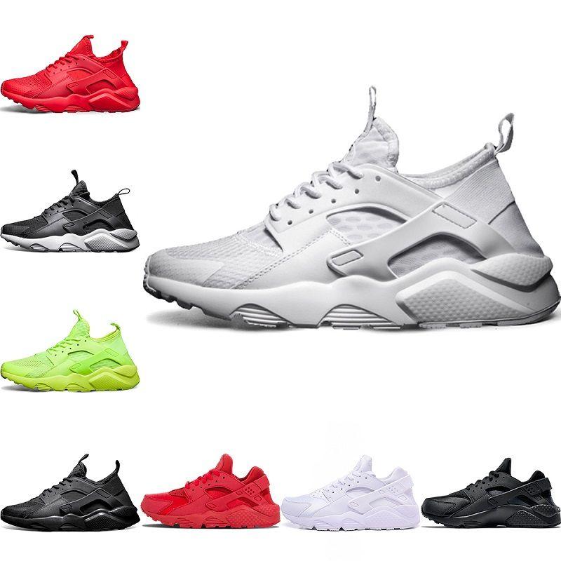 bda9b3354114 Cheap Huarache 4 Trainers Sneaker 1 Mens Running Shoes Triple S White Black  Red 2018 Huaraches Men Women Sport Sneakers Size 5.5 11 Good Running Shoes  ...