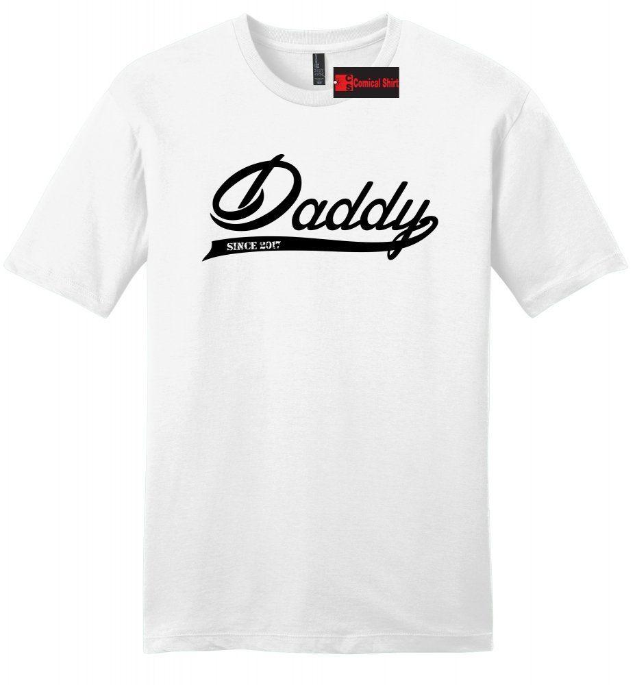 de7e1128 Daddy Since 2017 Mens T Shirt New Father New Baby Fathers Day Gift Dad Tee  Z2 Funny Unisex Casual Tee Gift Custom T Shirts T Shirt Printing From ...