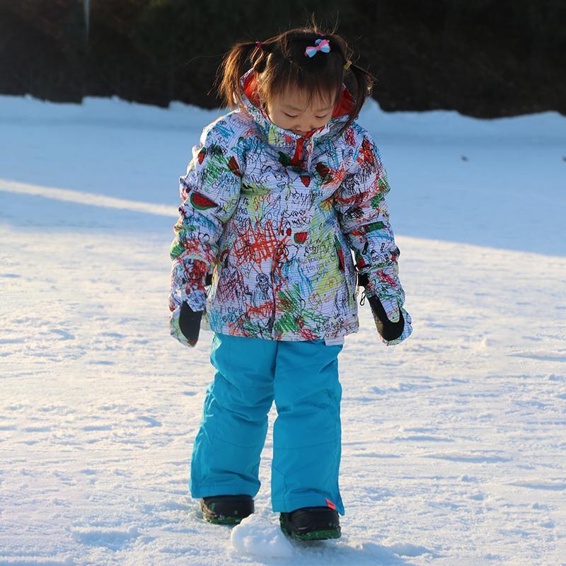 cf445392c GSOU SNOW Winter Children Ski Suit Girls Outdoor Windproof ...