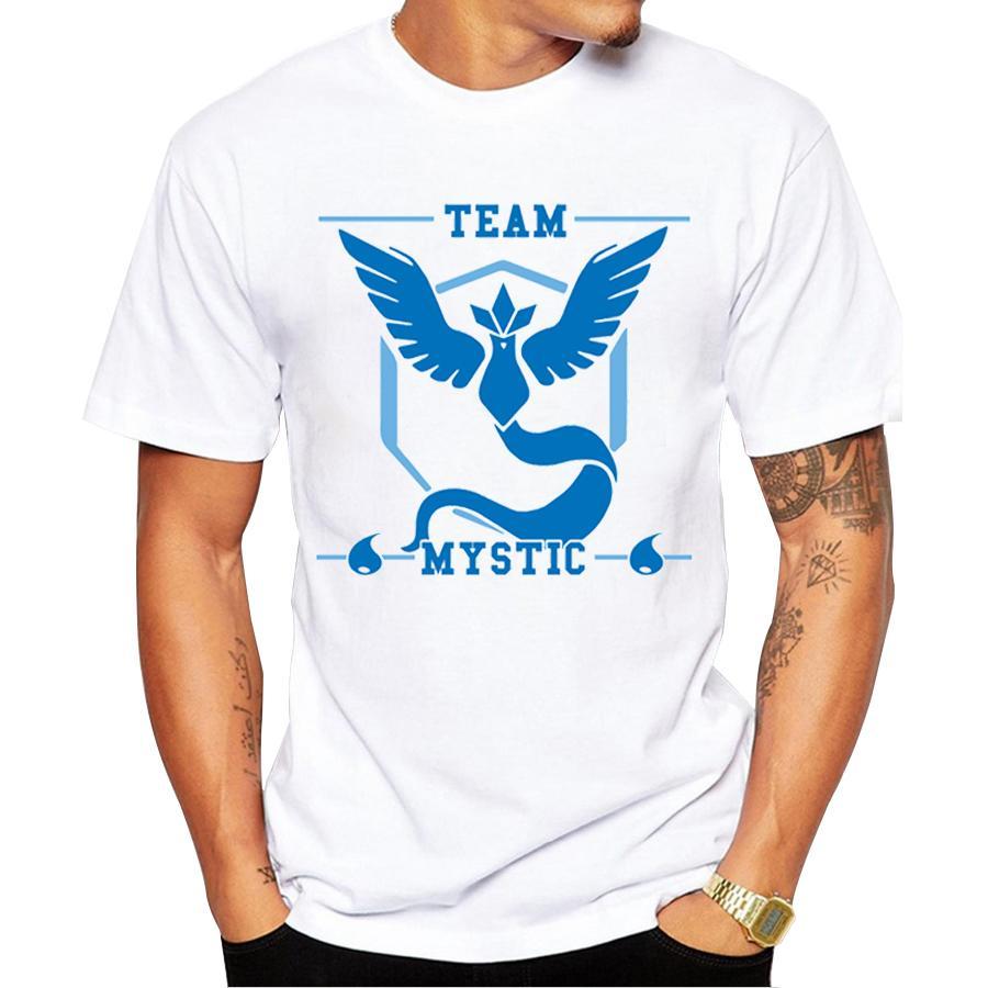 T-shirt Go Men Vai Team Harmony / Mystic / Instinct / Valor Top stampati Team Harmony t-shirt Cool tee