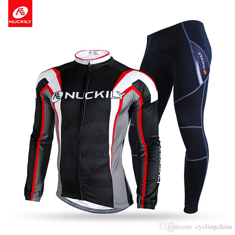 2ec33832b NUCKILY Winter Thermal Cycling Set Men S Polyester Custom Design Bicycle  Jersey NJ534 WNS900 W Custom Cycling Jersey Bike Jerseys From Cyclingchina