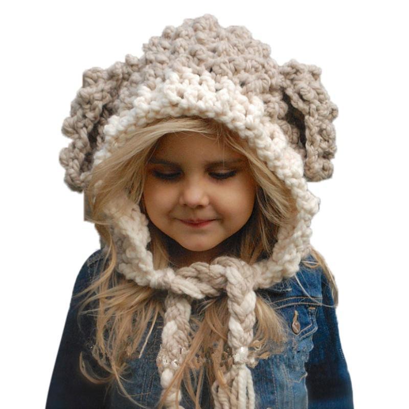 943b8e22f Compre Nuevo Sombrero De Bebé Tejido De Invierno Niños Sombreros Sombrero  Caliente De Otoño Invierno Gorro De Lana De Lana Para Niños Gorros De Tejer  Para ...