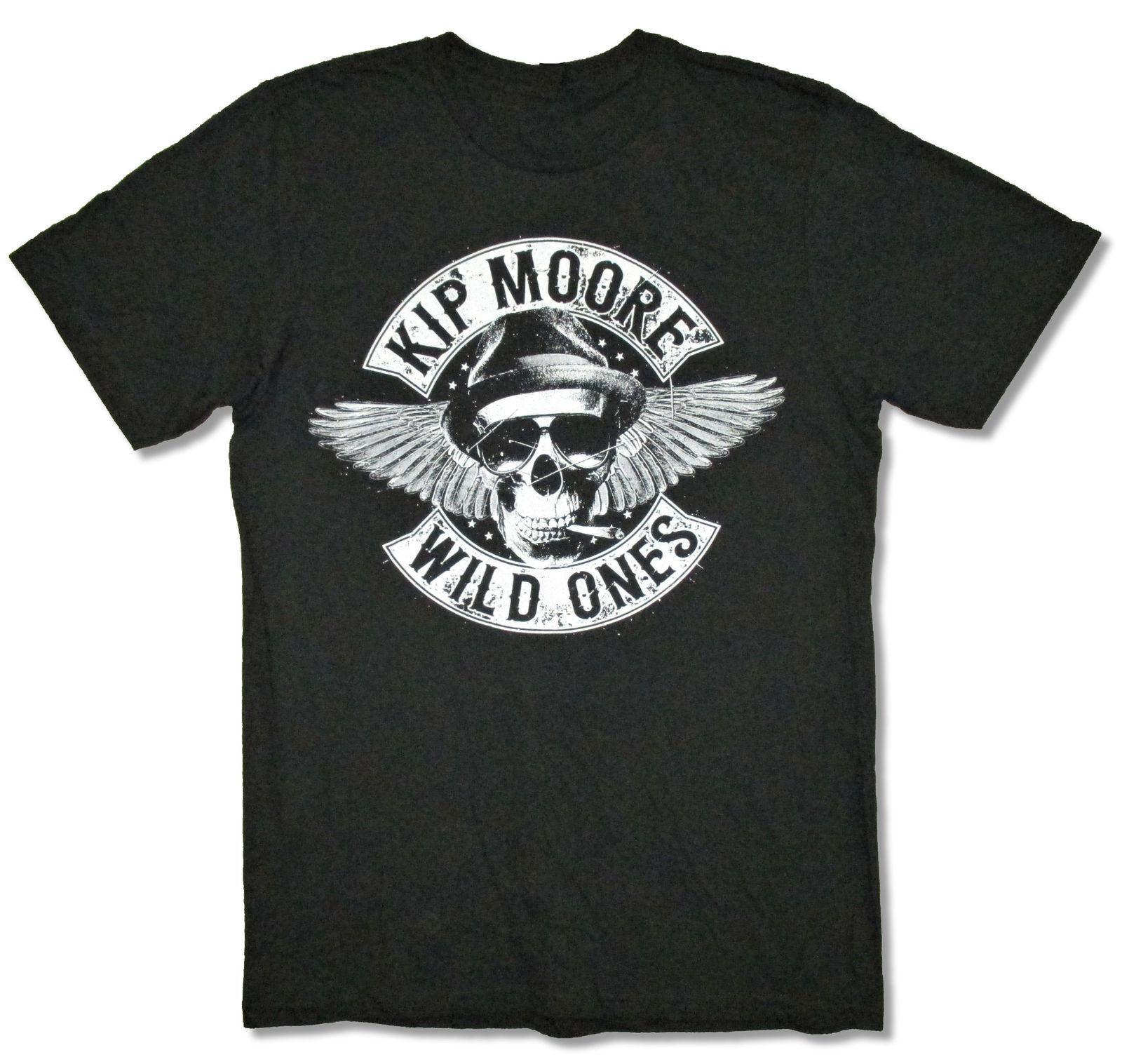 8b681b0dde13 Acquista Kip Moore All'ingrosso Sconto Cranio Wild Ones Maglietta Nera Nuovo  Ufficiale Merch Cotone Manica Corta T Shirt Uomo Abbigliamento Abiti Larghi  A ...