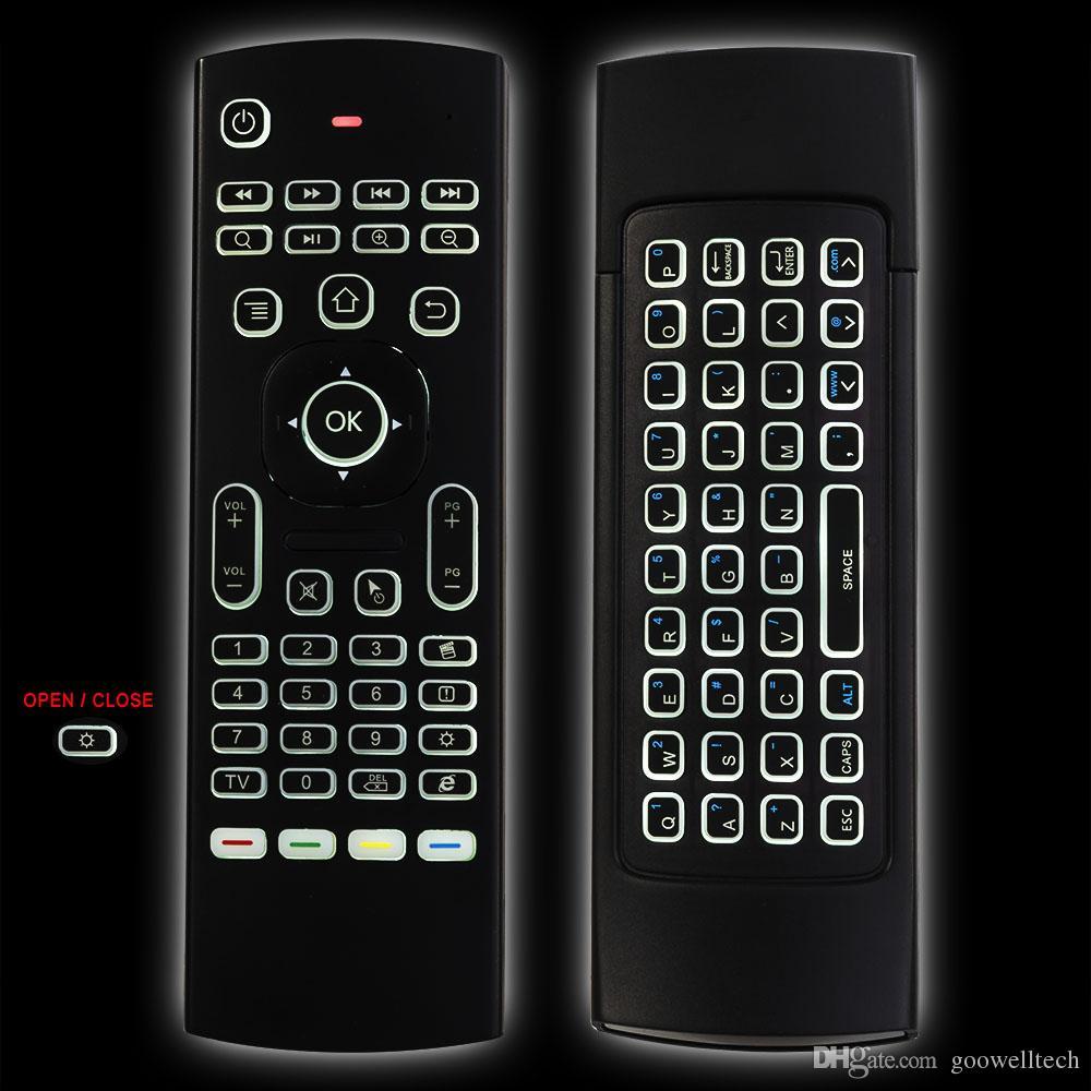 최신 MX3-L 백라이트 에어 마우스 T3 원격 제어 tx3 미니 A95X X96 H96 프로 안 드 로이드 TV 상자에 대 한 음성 2.4 G RF 무선 키보드