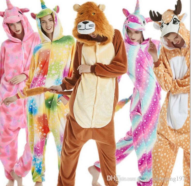 9cb37bee615c New Styles Winter Cute Cartoon Animal Pegasus Unicorn Pajamas ...