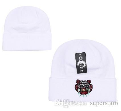 036d4c42177 Top Selling Luxury Brand Beanies Tiger Head Knitted Hat Designer Champion  Winter Warm Thick Beanie Bonnet Skull Caps Hats For Men Women 00 Best Ties  Black ...