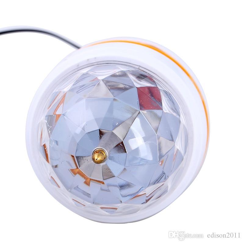 Edison2011 mini rgb led lâmpada bulbo iluminação de palco bola mágica 5 v dj discoteca party club branco com interface usb para a família do partido / férias