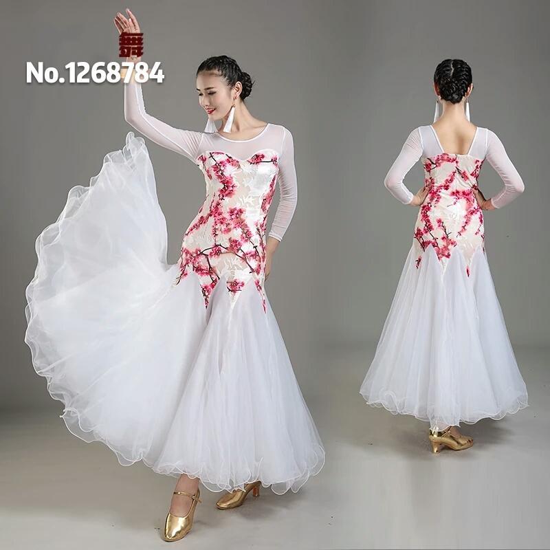 Compre es Blanco Vestido De Salón De Baile De Las Mujeres Vestidos De Vals  De Baile De Salón Ropa De Baile De Dama Trajes De Baile Vals Desgaste  Flamenco A ... 30cba6e6229f