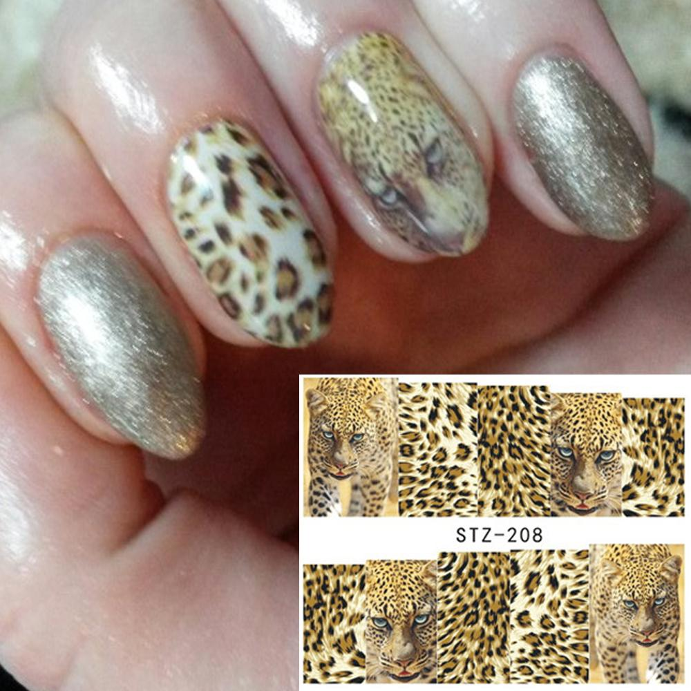 1 Sheets Nail Art Full Wraps DIY Sexy Tiger Skin For Nails Decor Designs  Nail Water Transfer Sticker Decals TRSTZ208 Nail Stencil Stickers Nails  Stickers ... 45443eaaad13