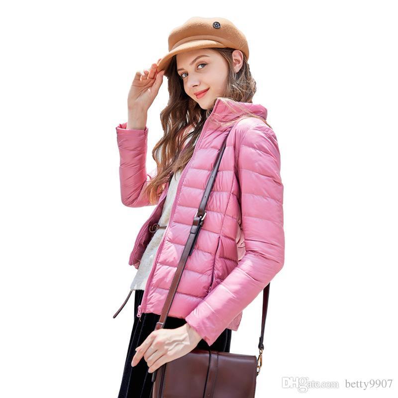 finest selection fd249 29c18 Autunno Primavera Piumino 2018 Fashion Designer Abbigliamento donna Anatra  bianca Filling 14 colori Light Plus Size Coat