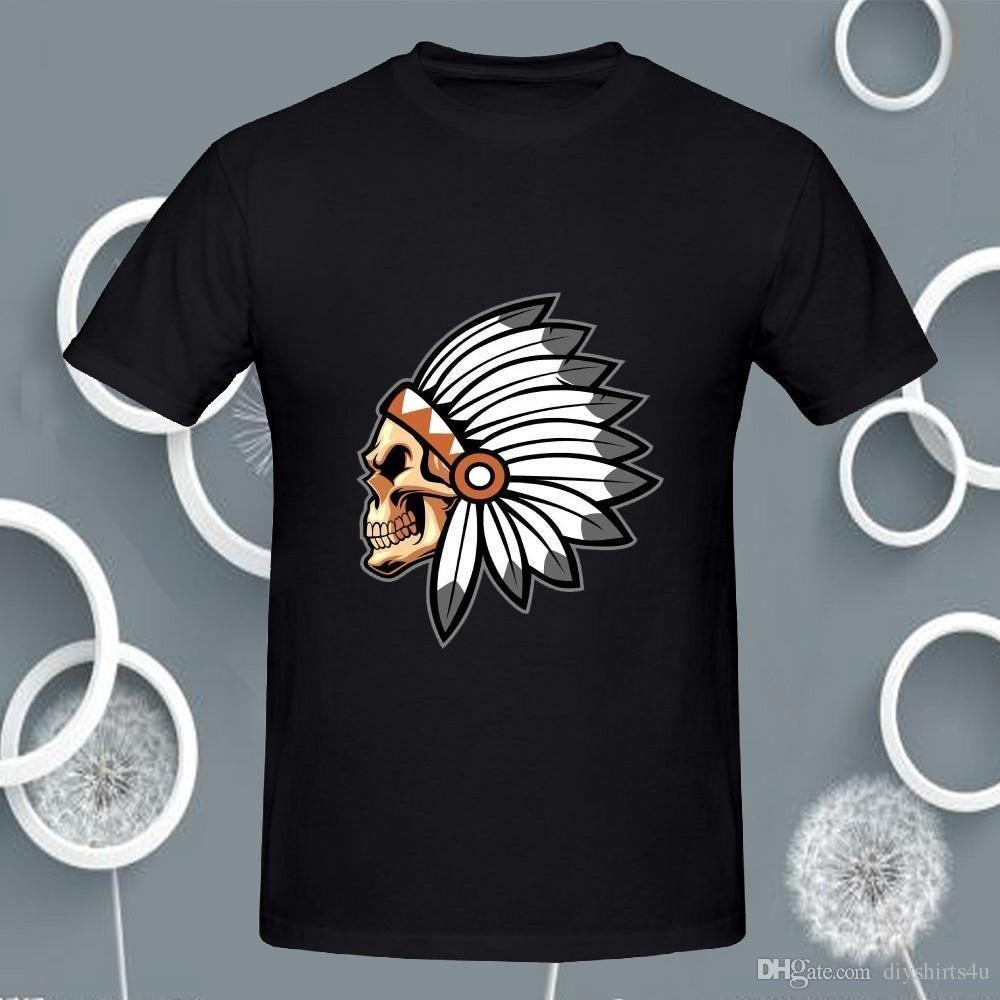 a6c6484a0 Bulk T Shirts Men's Native American Chief Cotton Short Sleeve T-Shirts  Graphic Tee For Mans O-Neck Short Sleeve Short T Shirts
