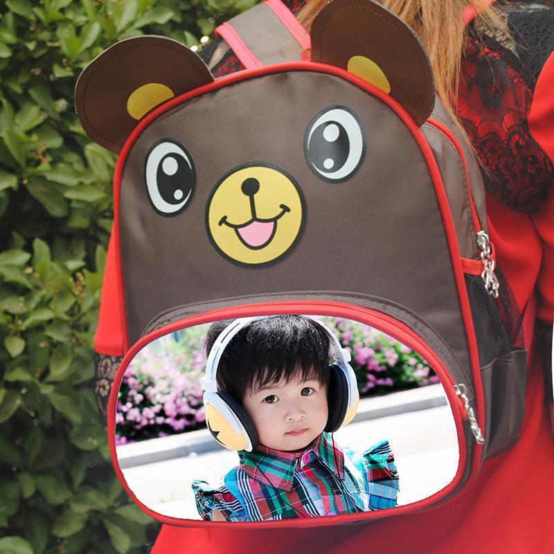 zainetto della rana dell'ape i sacchetti delle scimmie dei ragazzi delle ragazze dei capretti la pubblicità la vostra foto su ordinazione dei bambini o progettazione o sublimazione al minuto di nome di testo