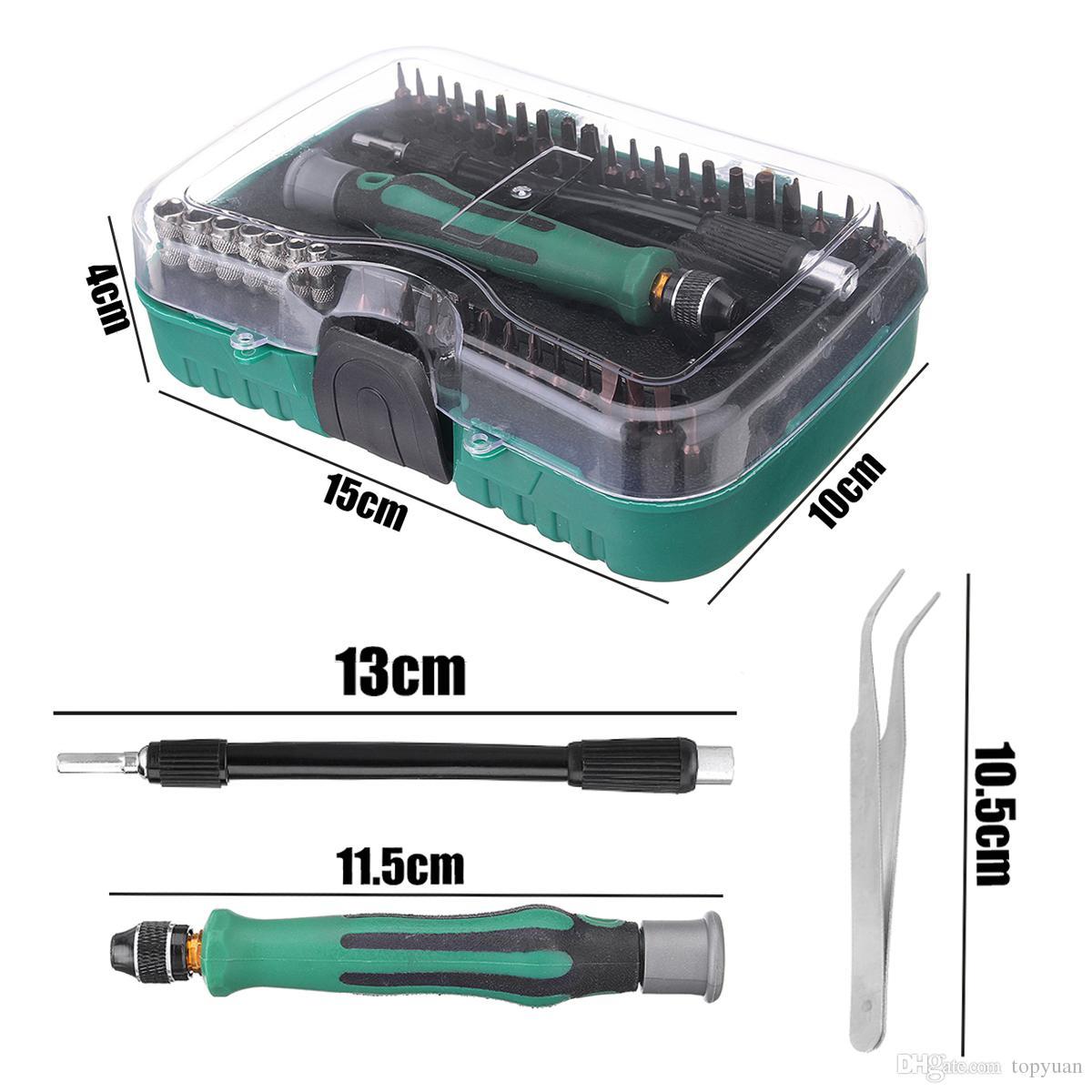 45 em 1 soquetes de chave de fenda definir intercambiáveis telefone kit de ferramentas de reparo do computador