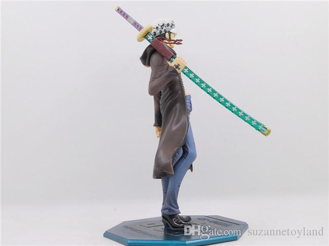 Suzannetoyland Anime One Piece Trafalgar Law PVC 18cm Kids Birthday Model Toys Movie Games Action Figure