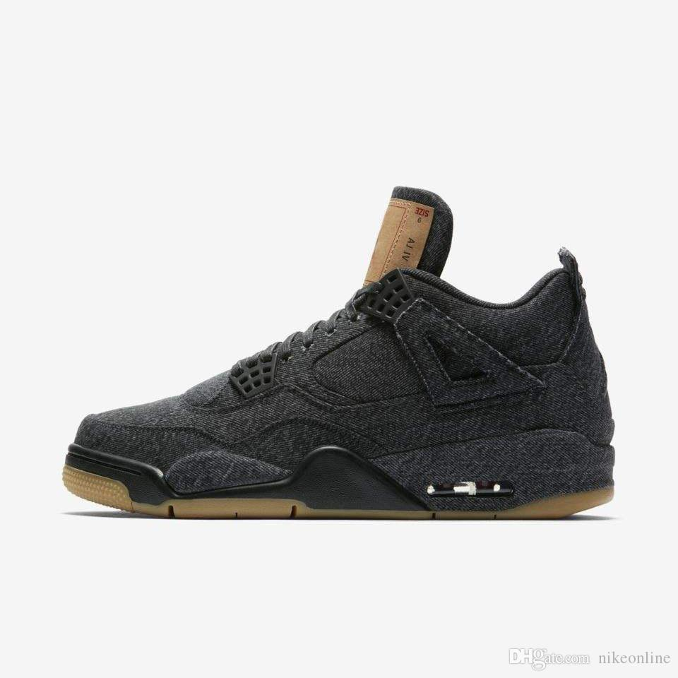 799f5d879cd4 Cheap Cheap Womens Jumpman 4 IV Basketball Shoes 4s Denim Black Cat Fire  Red Bred Oreo White AJ4 Sneakers Boots for Youth Kids Boys Girls with Box